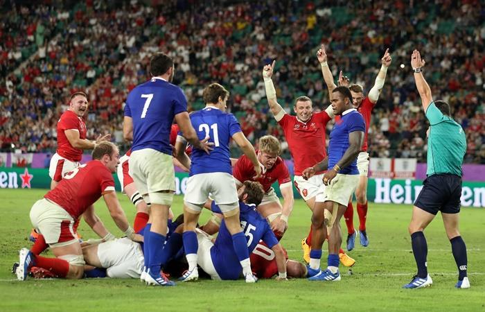 Gales le ganó a Francia y Sudáfrica al sorprendente Japón para meterse en semis. Foto: Twitter RWC