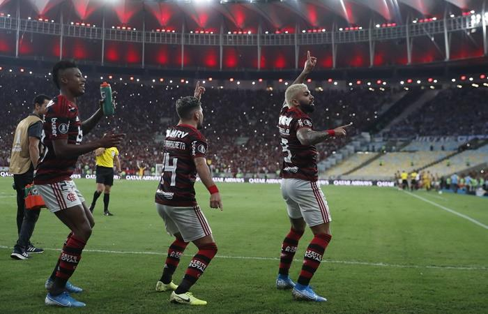 Flamengo goleó 5 a 0 a Gremio y es finalista de la Copa Libertadores. Foto: EFE