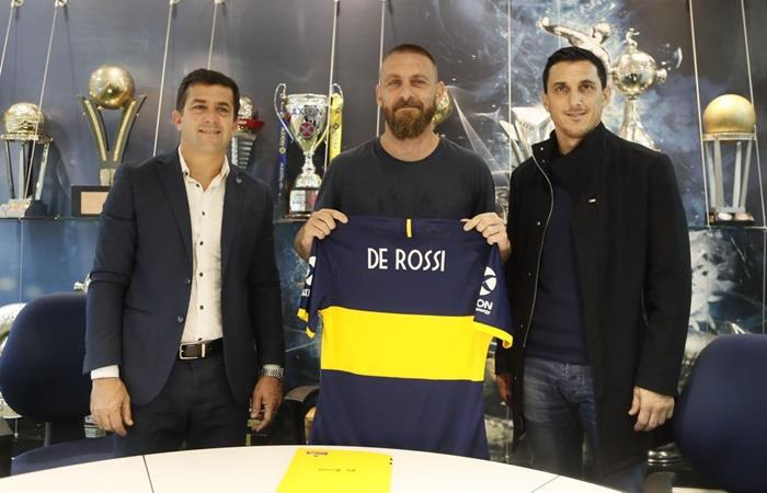 Daniele de Rossi cumplirá su contrato en Boca hasta junio. Foto: Twitter Boca