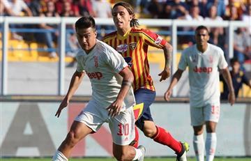 Con gol de Dybala, Juventus empató con Lecce y puede perder la punta