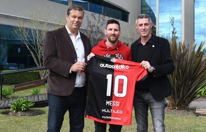 Lionel Messi habló del sueño de jugar en Newell's. Foto: Twitter