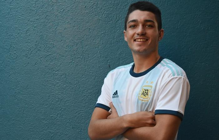 Matías Palacios, la joya que sera seguida de cerca por Barcelona. Foto: Twitter