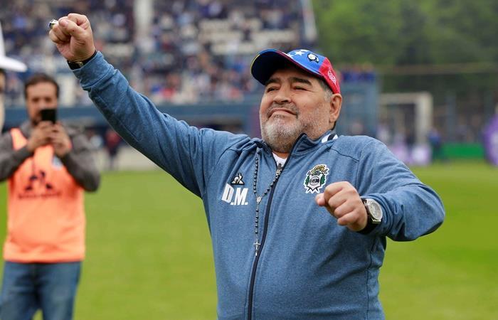 Diego Maradona festejó el triunfo de Alberto Fernández. Foto: EFE