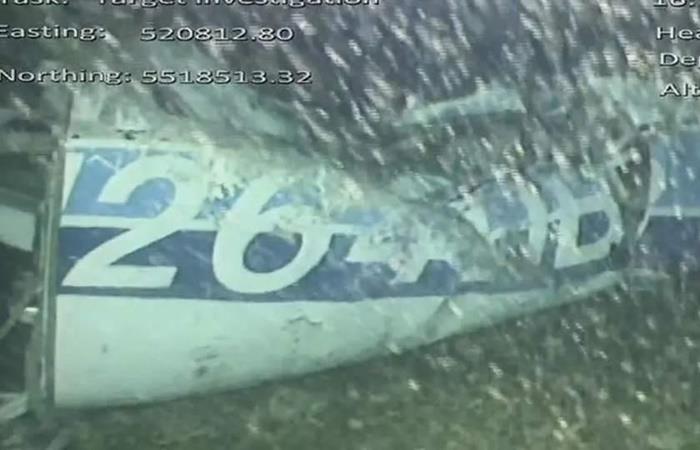 Los restos del avión de Emiliano Sala no están. Foto: Twitter