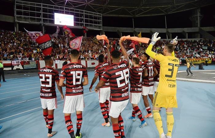 Flamengo ganó y sigue con el invicto de 22 partidos. Foto: Twitter Flamengo