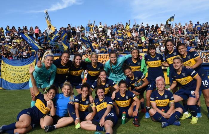 Boca le ganó 10 a 0 a Defensores del Belgrano y es puntero invicto. Foto: Twitter