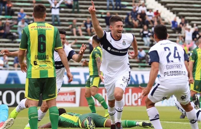 Gimnasia le ganó 3 a 0 a Aldosivi en Mar del Plata. Foto: Twitter AFA