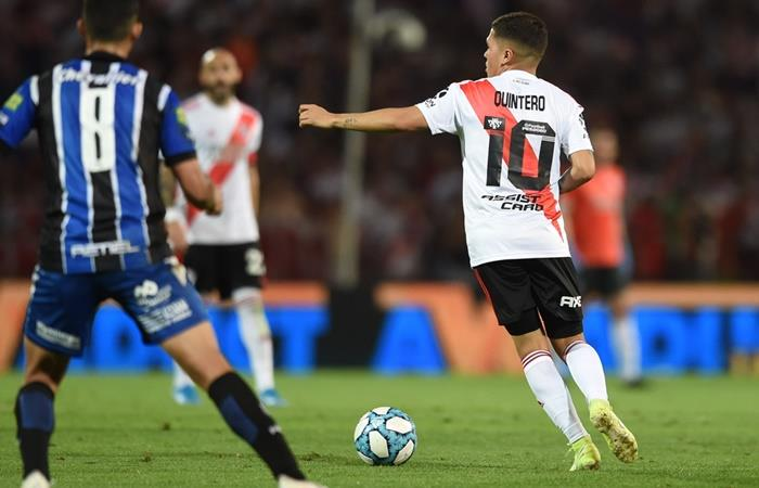 Juanfer Quintero concentró para la semifinal de la Copa Argentina. Foto: Twitter River