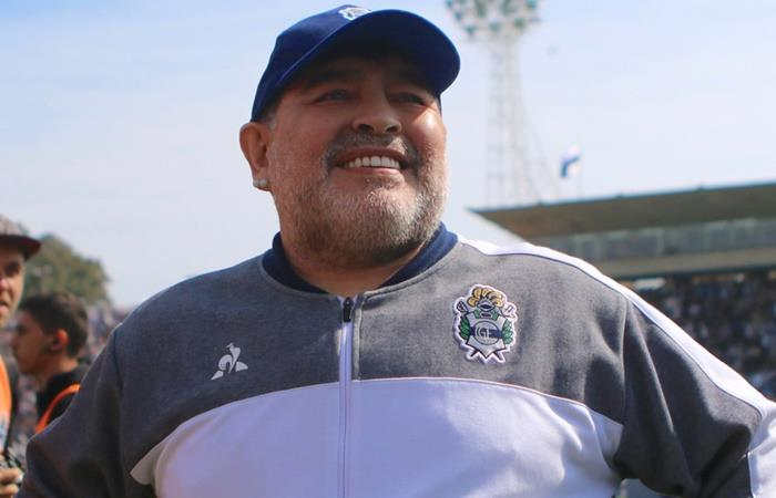 El mensaje de Diego Maradona a los jugadores de Estudiantes de Caseros. Foto: Twitter Gimnasia