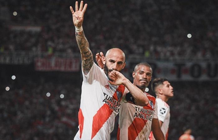 Javier Pinola y Exequiel Palacios le dieron el pase a la final a River. Foto: Twitter