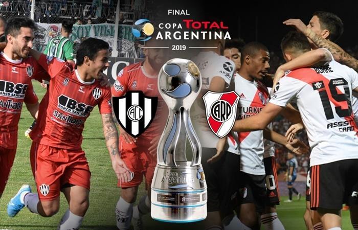 River y Central Córdoba no saben cuando juegan la final de la Copa Argentina. Foto: Twitter