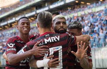Flamengo ganó y el show fue de Gabigol: gol, roja, récord y cargada a Gremio