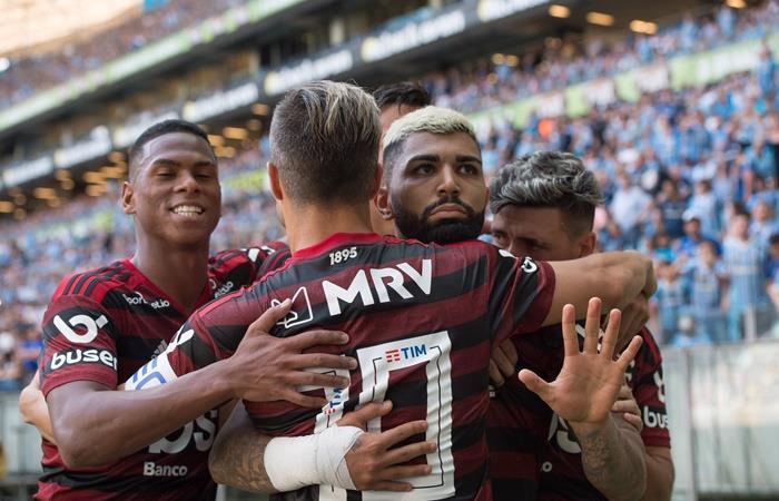 Gabigol marcó el único gol en la victoria de Flamengo ante Gremio. Foto: Twitter