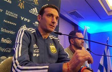 """Lionel Scaloni en conferencia: """"Lionel Messi y Sergio Agüero juegan"""""""