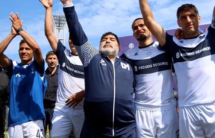 Diego Maradona podría dejar Gimnasia. Foto: Twitter