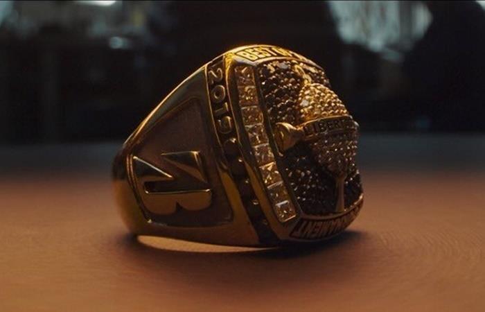 El anillo de 18 kilates para el mejor jugador de la final de la Libertadores. Foto: Twitter