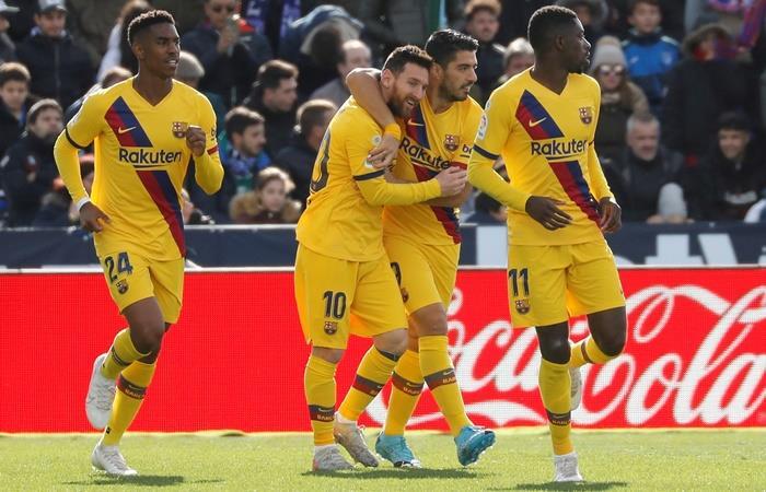 Barcelona le ganó 2 a 1 a Leganés en Madrid. Foto: EFE