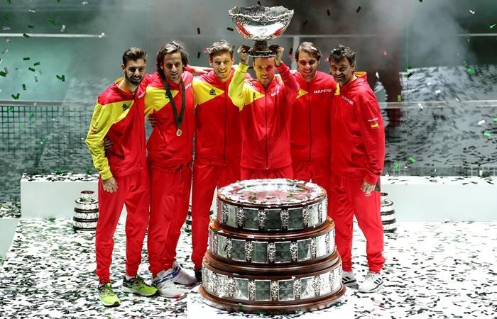 España se coronó campeón de la Copa Davis. Foto: EFE