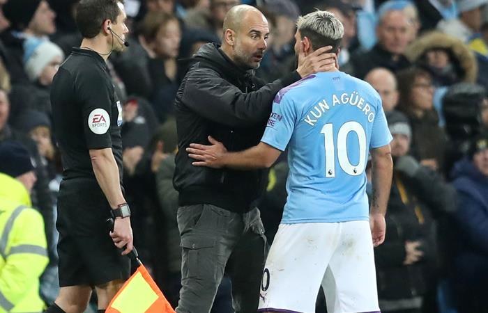 Sergio Agüero será baja varias semanas en Manchester City. Foto: EFE