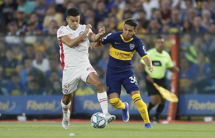 Boca y Argentinos empataron en un partido picante. Foto: Twitter Boca