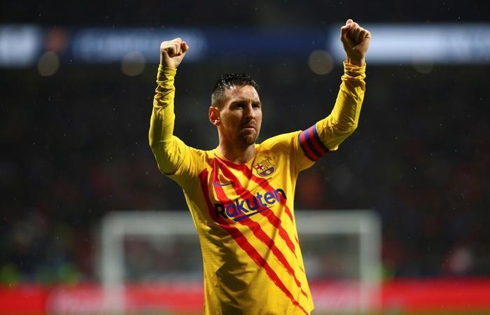 Lionel Messi le dio el triunfo a Barcelona sobre Atlético de Madrid. Foto: EFE