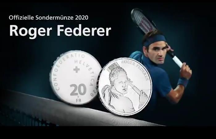 Roger Federer será la cara de la moneda de 20 francos suizos. Foto: Twitter