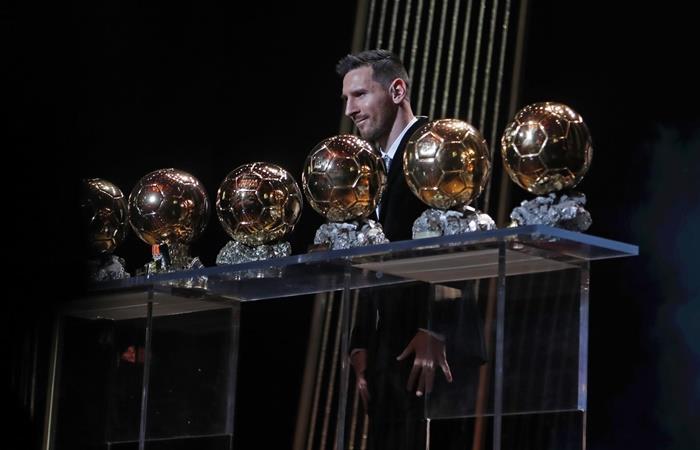 La reacción de Lionel Messi cuando se enteró que era el Balón de Oro. Foto: Twitter