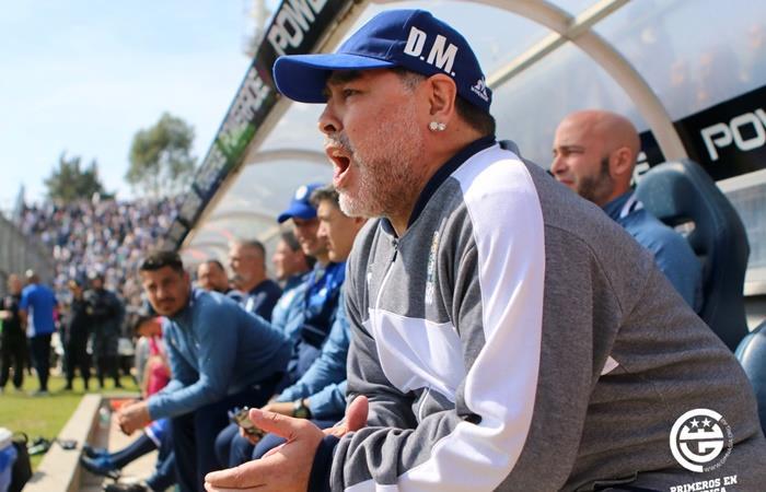 Diego Maradona contra Juan Román Riquelme y la agrupación de Boca. Foto: Twitter Gimnasia