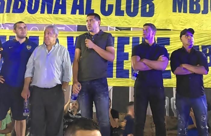 Juan Román Riquelme habló de la continuidad de Carlos Tévez en Boca. Foto: Twitter