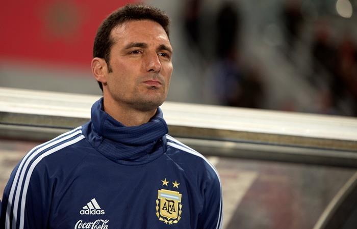 Lionel Scaloni habló del ataque con Messi, Agüero y Lautaro. Foto: EFE