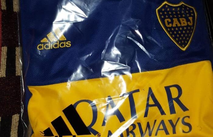 La nueva camiseta de Boca para la temporada 2020. Foto: Twitter