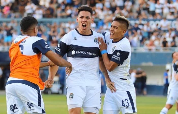 Gimnasia le ganó 2 a 1 a Central Córdoba como local. Foto: Twitter Gimnasia
