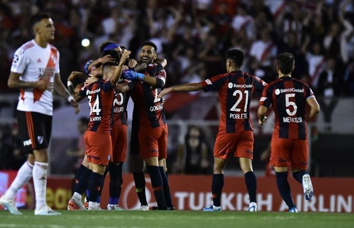 San Lorenzo le ganó a River en el Monumental. Foto: Twitter San Lorenzo