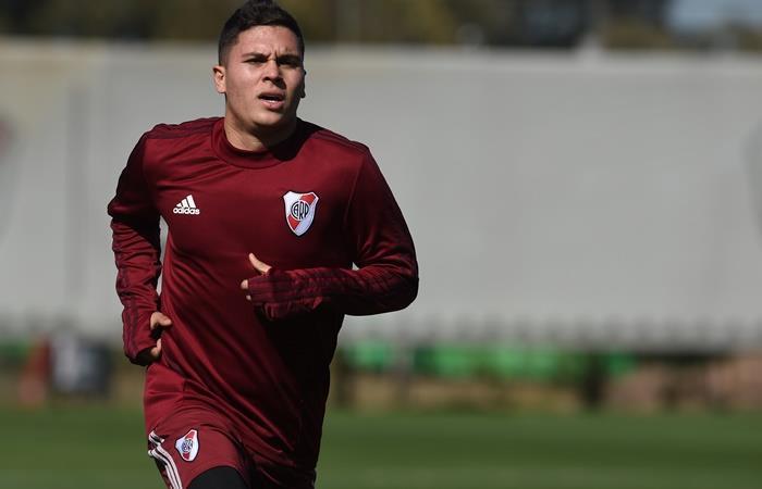Juanfer Quintero se lesionó y no jugará la Copa Argentina. Foto: Twitter