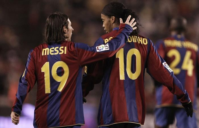 Ronaldinho habló de Lionel Messi. Foto: Twitter