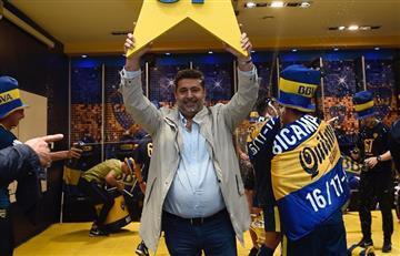 Daniel Angelici y su última reunión de comisión en Boca: