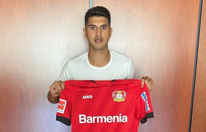 Exequiel Palacios fue presentado como jugador de Bayer Leverkusen. Foto: Twitter Bayer 04