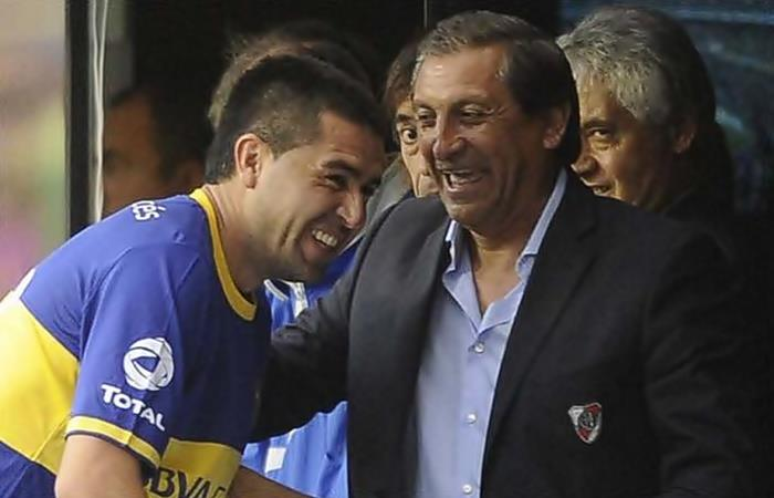 Riquelme y Ramón Díaz se cruzan otra vez en la Copa Libertadores. Foto: Twitter