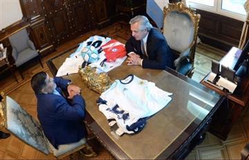 Alberto Fernández se reunió con Diego Maradona en Casa Rosada