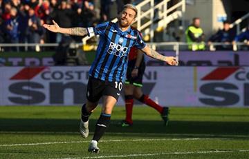 Atalanta goleó 5 a 0 a Parma con un golazo del Papu Gómez