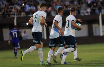 Argentina empató con Paraguay en el primer amistoso de la Sub 23