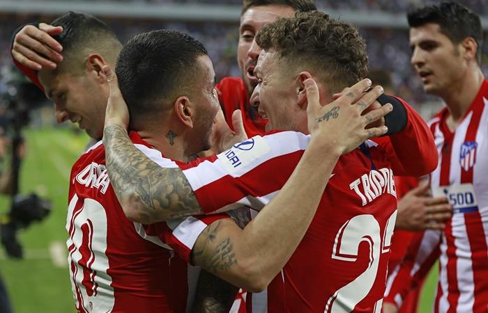 Atlético de Madrid le ganó a Barcelona y lo eliminó de la Supercopa de España. Foto: Twitter