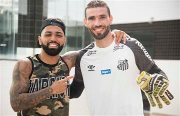 La bronca de Flamengo por el guiño de Gabigol a Santos