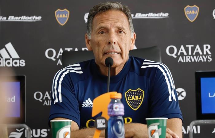 Miguel Ángel Russo habló en conferencia de prensa sobre el presente de Boca. Foto: Twitter Boca