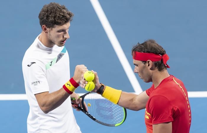 España le ganó sufriendo a Bélgica y se metio en semis de la ATP Cup. Foto: EFE