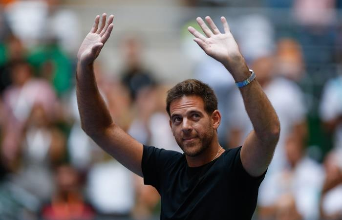 Juan Martín del Potro se bajó del Australian Open. Foto: EFE