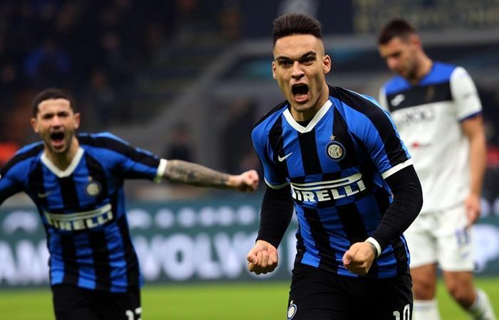 Lautaro Martínez anotó en el 1 a 1 de Inter ante Atalanta. Foto: EFE