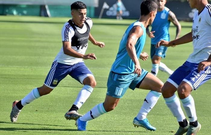 Fernando Valenzuela fue desafectado de la Selección Argentina Sub 20 por lesión. Foto: Twitter Racing Club