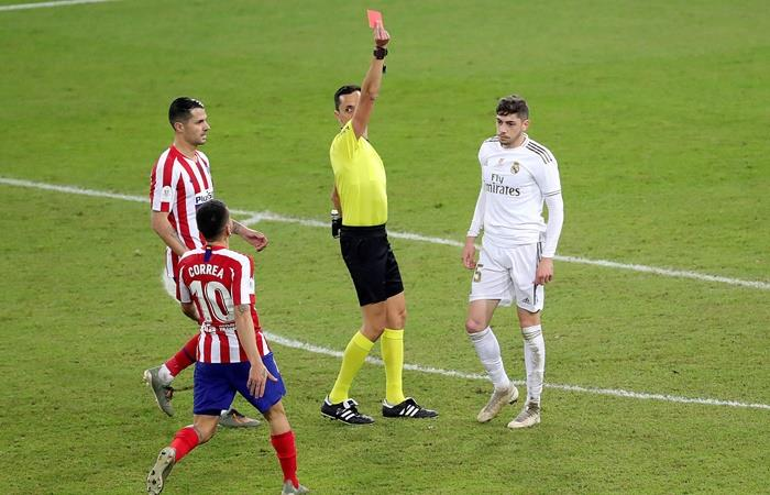 Una fecha de suspensión a Valverde por la expulsión en la Supercopa. Foto: EFE