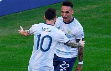 """Lautaro Martínez: """"Messi y Agüero me generan alegría"""""""